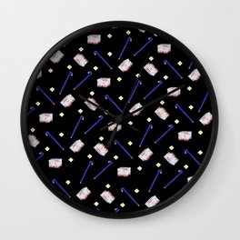 Flowers Crowbar and Sixpack Wall Clock