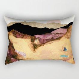 Mauve and Gold Mountains Rectangular Pillow