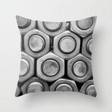STUDS (b&w) Throw Pillow
