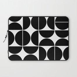 Mid Century Modern Geometric 04 Black Laptop Sleeve