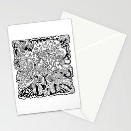 Other Worlds Black Line  Stationery Cards