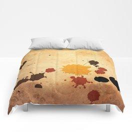 Abstract Indian Yellow Splash Comforters