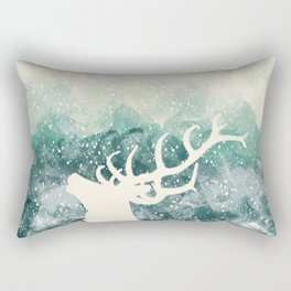 Oh Deer Green Rectangular Pillow