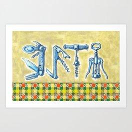corkscrews 2 zipper pouch Art Print