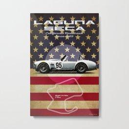 Laguna Seca Racetrack Vintage Metal Print