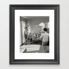 Holding in a Fart Framed Art Print