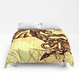 Battling Dragons - Mythical Creatures Comforters