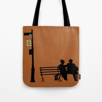 manhattan Tote Bags featuring Manhattan by FilmsQuiz