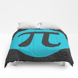 First 10,000 digits of Pi, blue on black. Comforters