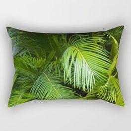 Palm Green Rectangular Pillow