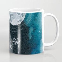 Moon Series #11 Watercolor + Ink Painting Coffee Mug
