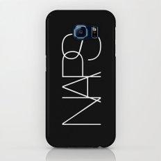 Naps Cosmetic Chic Black Typography Galaxy S6 Slim Case