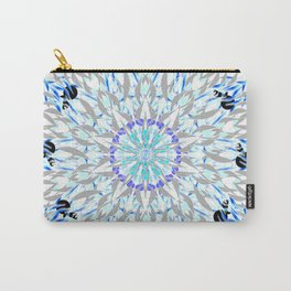 ice flake winter mandala Carry-All Pouch