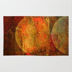 Abstract moons Rug