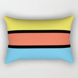 Diversions #1 in Yellow, Orange & Powder Blue Rectangular Pillow