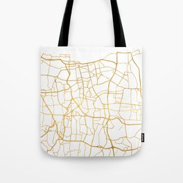 JAKARTA INDONESIA CITY STREET MAP ART Tote Bag