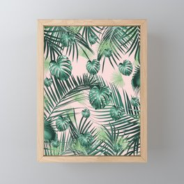 Tropical Jungle Leaves Garden #2 #tropical #decor #art #society6 Framed Mini Art Print