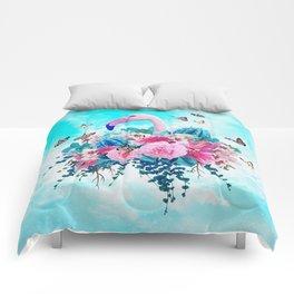 FLORAL FLAMINGO Comforters