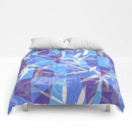 Bamboo in Blue Geometric Pattern Comforters