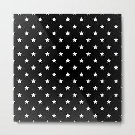 Black Background With White Stars Pattern Metal Print