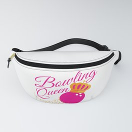 Bowling Queen design Funny Gift For Girls Bowlers Fanny Pack
