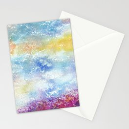Sky Watercolor Art Illustration Stationery Cards