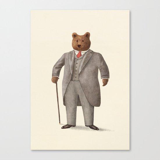 Mr. Bear Canvas Print