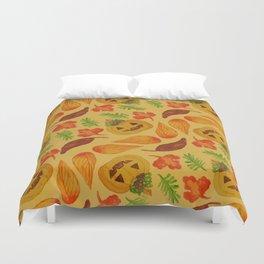 retro lovely jack-o-lantern pattern Duvet Cover