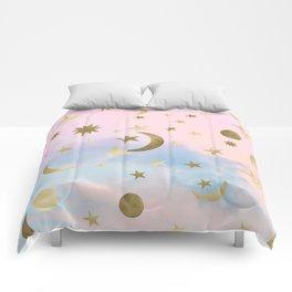 Pastel Starry Sky Moon Dream #1 #decor #art #society6 Comforters