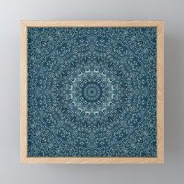 flowing lines pattern 3 Framed Mini Art Print
