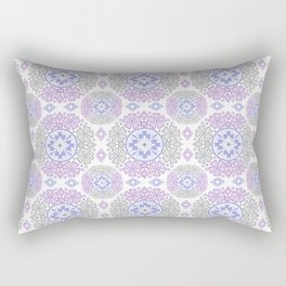 Delicate lace lilac and grey pattern . Rectangular Pillow