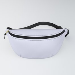 Solid Pale Lavender Blue Color Fanny Pack