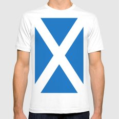 Flag of Scotland MEDIUM White Mens Fitted Tee