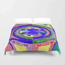 Multi Colour Abstract Duvet Cover