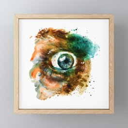 Fear Eye Framed Mini Art Print