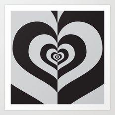 Half A Heart Art Print