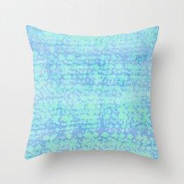 ocean pixels Throw Pillow