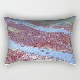 NEW YORK CITY Manhattan city old map Father Day art print poster Rectangular Pillow