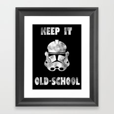KEEP IT OLD-SCHOOL Framed Art Print