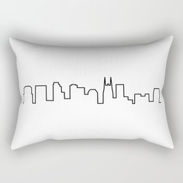Nashville, TN City Skyline Rectangular Pillow