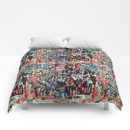 Love wall background Comforters