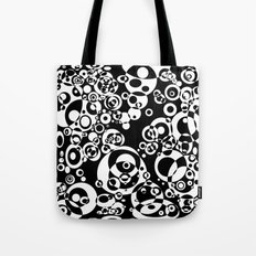 Chaos in black and white Tote Bag