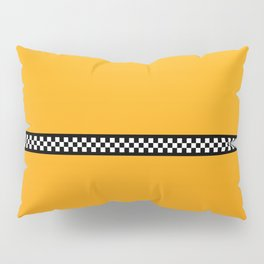 NY Taxi Cab Yellow with Black and White Check Band Pillow Sham