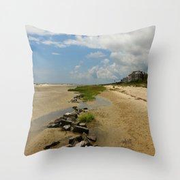 The Golden Islands Beauty Throw Pillow