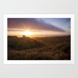 Never Stop Sunset  Art Print