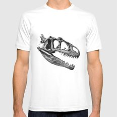 Allosaurus Mens Fitted Tee White MEDIUM
