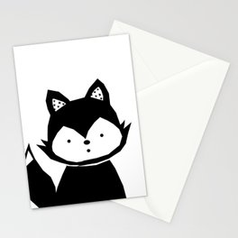Baby Fox - black Poster Stationery Cards