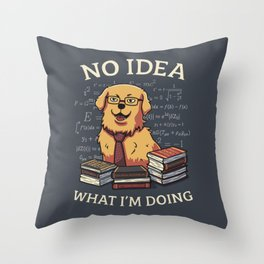 No Idea Throw Pillow