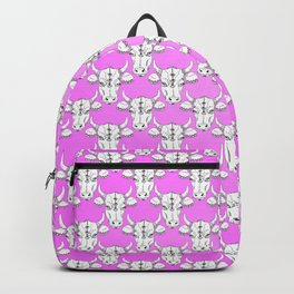 Cute and Pretty Indian Cow Sketch Pattern Backpack