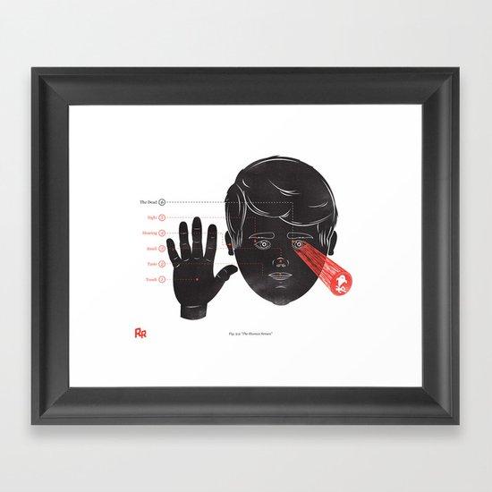 The Human Senses Framed Art Print